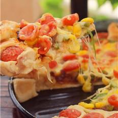 脆肠玉米披萨