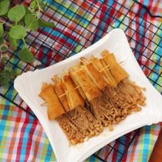 豆腐皮烤金针菇