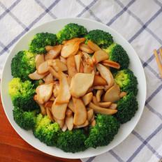 杏鲍菇扣西兰花