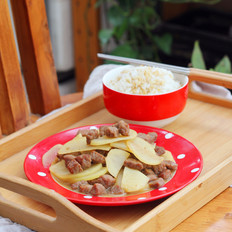 土豆牛肉粒