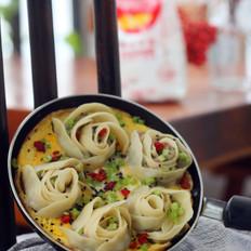 玫瑰花抱蛋煎饺