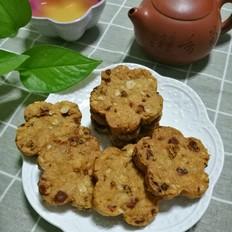 梅花杏仁燕麦饼