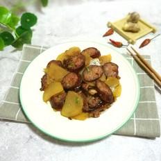 土豆片炒腊肠