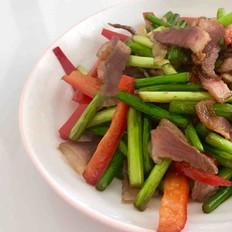 蒜苔(苗)炒腊肉