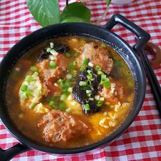 紫菜丸子蛋花汤
