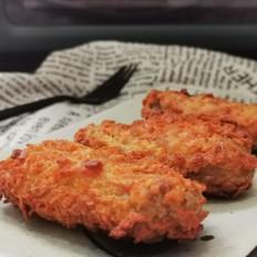 非油炸更低脂的薯片炸鸡的做法