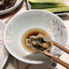 虾仁墨鱼水饺