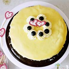 8寸榴莲千层蛋糕