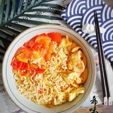 番茄鸡蛋榨菜面