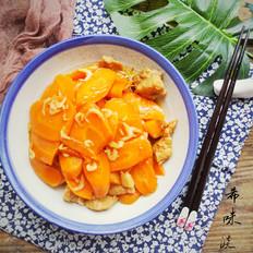 虾皮炒胡萝卜片