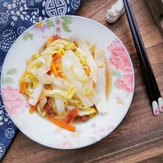 胡萝卜炒白菜