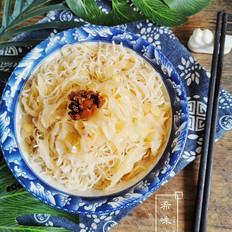 酸辣包菜米面的做法