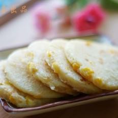 Q弹的奶香玉米饼