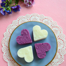 甜甜的山药紫薯心
