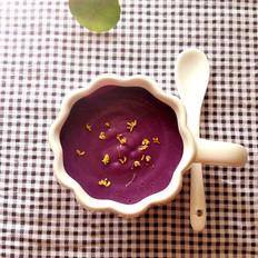 紫薯牛奶桂花羹
