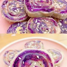 紫薯肉松手抓饼