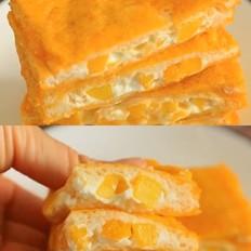 低脂爆浆芒果酸奶土司