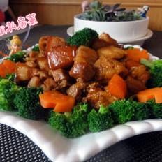 红烧肉炖豆腐泡