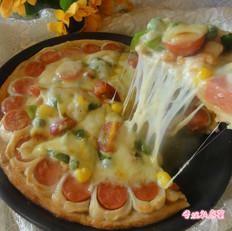 鸡肉火腿花边披萨