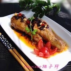 香辣豆豉蒸鸡腿