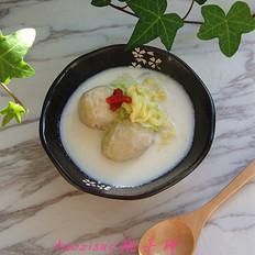 奶香芋艿白菜汤