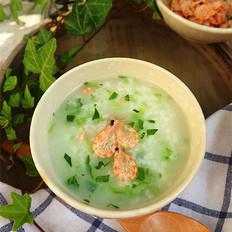磷虾青菜粥