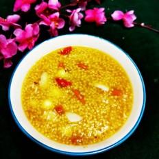 百合莲子红糖小米粥