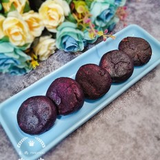 紫薯白芸豆馅饼