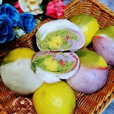 菠菜紫薯南瓜馒头