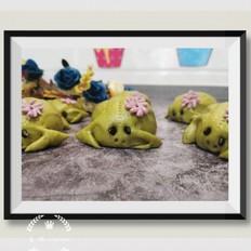 青蛙白芸豆沙包