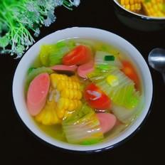 白菜玉米清脂汤