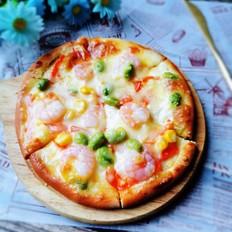 虾仁芝士披萨