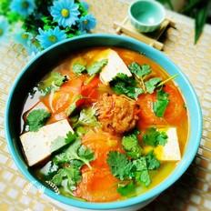 西红柿豆腐汤