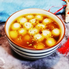蔗糖糯米圆子汤