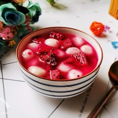 火龙果圆子甜汤