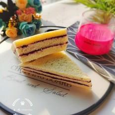 紫薯蓝莓三明治