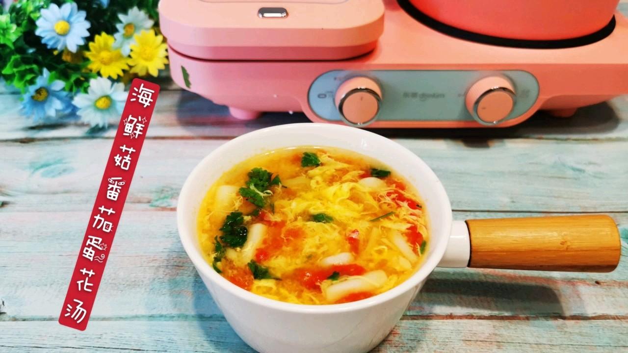 海鲜菇番茄蛋花汤