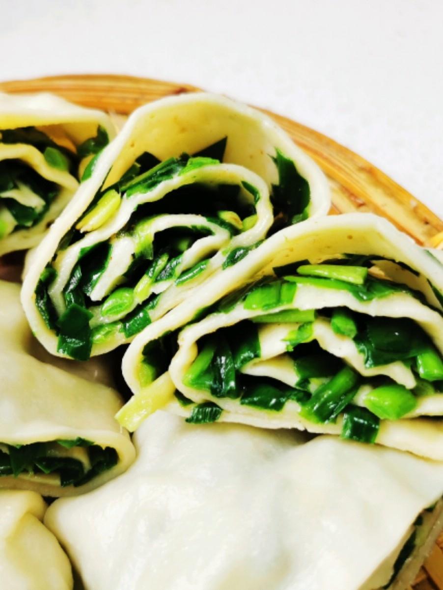 陕西地方特色小吃——韭菜卷