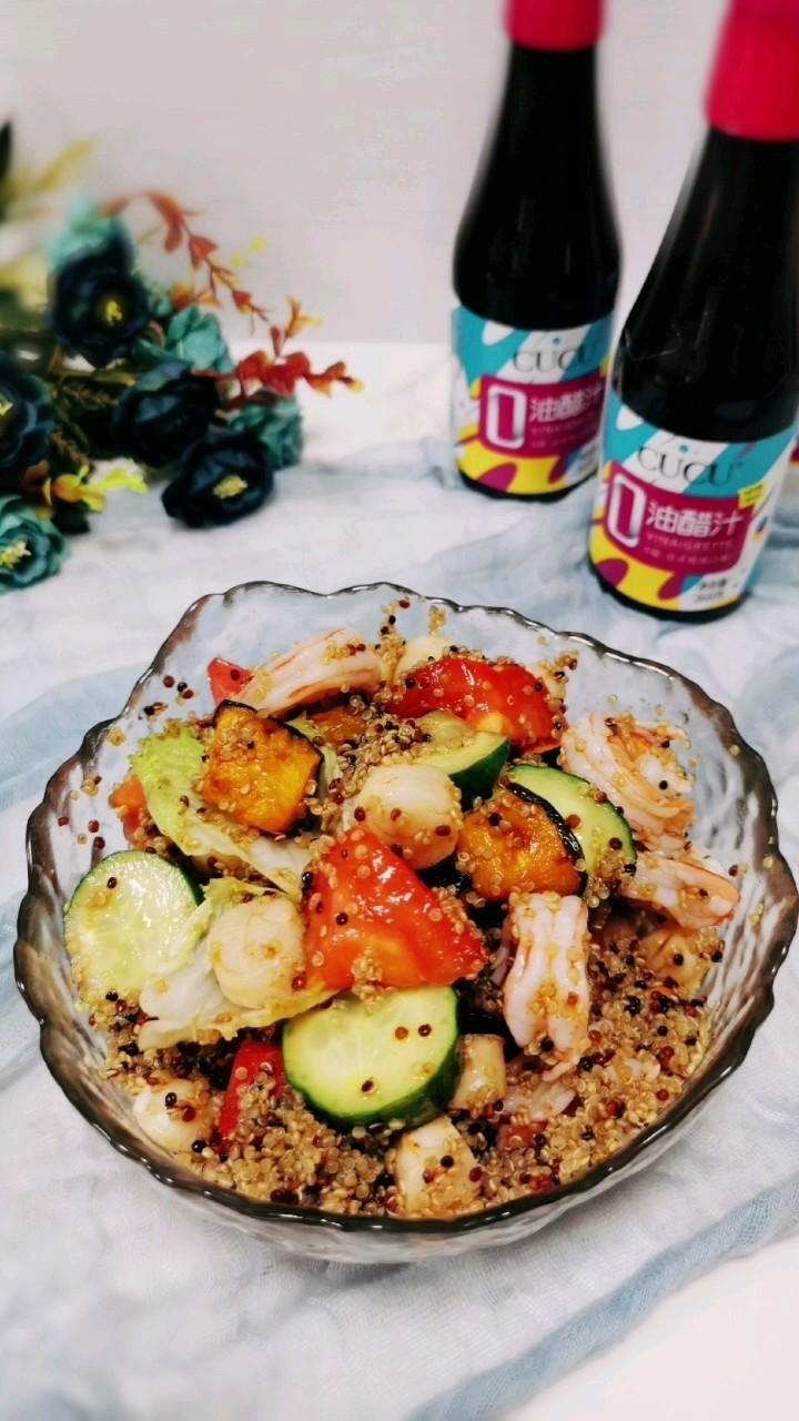 轻食减脂藜麦海鲜沙拉,送给爱美的你的做法