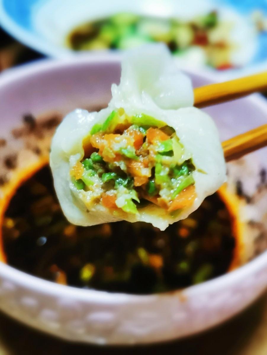豆角红萝卜肉饺子的做法