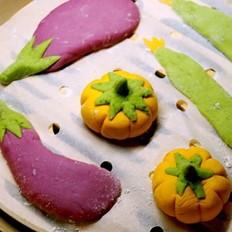 紫薯南瓜菠菜馒头