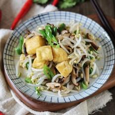 香菇银芽油豆腐