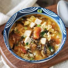 番茄紫菜豆腐汤