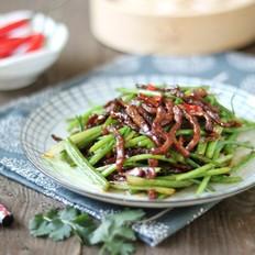 香菜梗炒牛肉