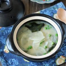 豌豆白萝卜味噌汤