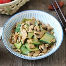 黄瓜口蘑炒肉片