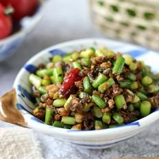 芽菜肉末蒜苔