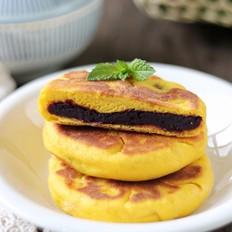 紫薯南瓜发面饼