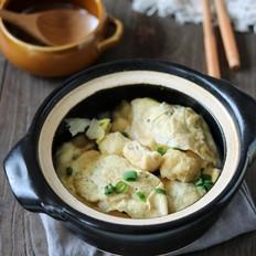 油豆腐蛋饺煲