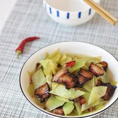 腊肉炒青笋